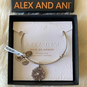 NWT Alex and Ani 'Maid of Honor' Bracelet